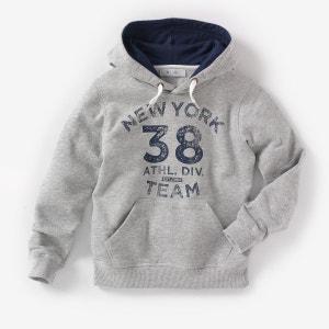 Bedrukte sweater met kap R édition