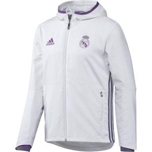 Chaqueta con cremallera de presentación del Real Madrid con capucha ADIDAS