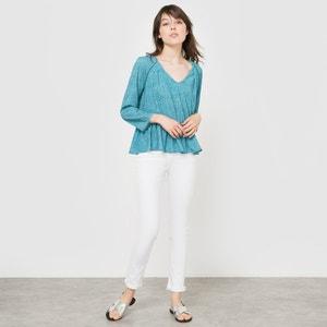Bedrukte soepele blouse R studio