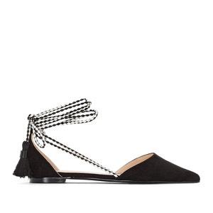 Ballerine a punta con lacci alle caviglie La Redoute Collections