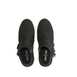 Zapatillas con cremallera y flecos de piel GWEN BOOTIE MINNETONKA