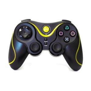 Hobbytech - manette de jeu sans fil pour Playstation 3 - Noire et jaune HOBBY TECH