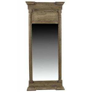 GRAND MIROIR ANCIEN RECTANGULAIRE VERTICAL BOIS 59x11x136cm DECORATION D'AUTREFOIS