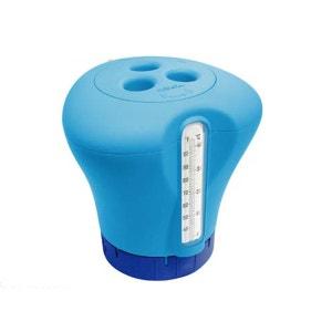 Thermomètre / Distributeur de chlore 2 en 1 - Bleu KOKIDO