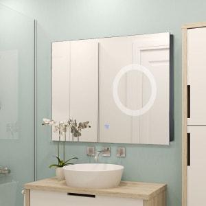 Miroir miroir design sur pied baroque mural la redoute - Miroir grossissant salle de bain mural ...