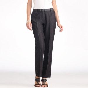 Jeans in stretch keperstof, binnenpijplengte  70 cm ANNE WEYBURN