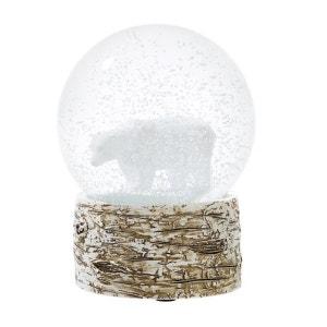 Globe de neige de Noël ours blanc ROCK MY PARTIE