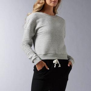 Cropped sweater, lijnenprint, S LUX COVERUP REEBOK