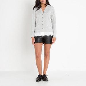 Kiwi Kiwi Dual Fabric Sweatshirt Cardigan LENNY B