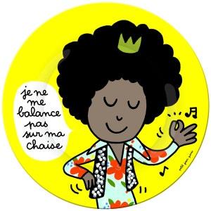 Assiette plate 20 cm Les princes : Je ne me balance pas sur ma chaise ARTY FROG PARIS