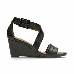 Acina Newport Leather Wedge Sandals CLARKS