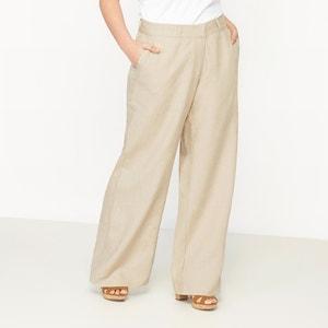 Pantalon large en pur lin CASTALUNA