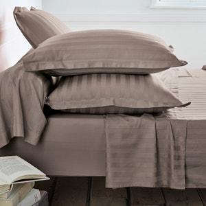 Fundas de almohada de satén de algodón, tejido a rayas en la misma gama de tonos La Redoute Interieurs