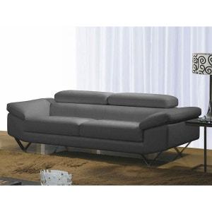 Canape Cuir Gris La Redoute - Canapé en cuir gris