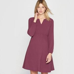 Long-Sleeved Maternity Dress R essentiel