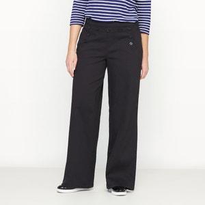Szerokie spodnie z dzianiny CASTALUNA