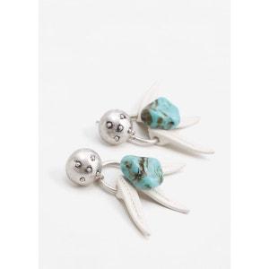Boucles d'oreilles pendantes pierre MANGO