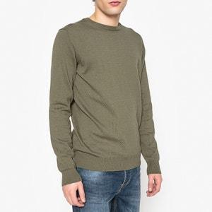 Пуловер с круглым вырезом 100% хлопка La Redoute Collections