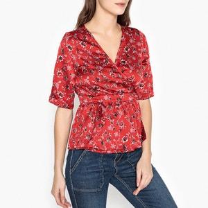 Bedrukte blouse in gesatineerde stof  EGLANTINE GARANCE PARIS