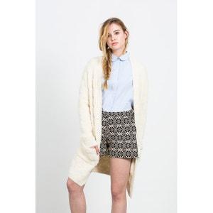Długi sweter z puchowej włóczki z kieszeniami COMPANIA FANTASTICA
