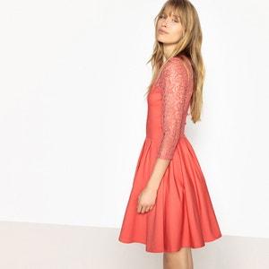 Lace Insert Skater Dress MADEMOISELLE R