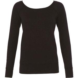 Sweat-shirt encolure large chiné BELLA & CANVAS