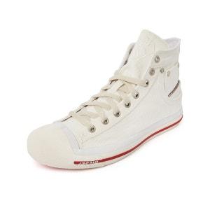 Sneakers montantes denim blanc Exposure pour homme DIESEL