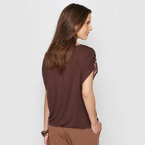 Blusa estampada de satén stretch ANNE WEYBURN
