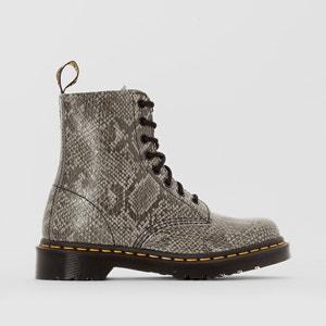 Boots in leer met veters PASCAL DR MARTENS