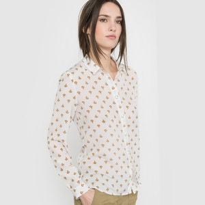 Рубашка из шелка с принтом R essentiel