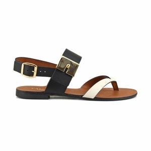 Sandali pelle GL102 CAFENOIR