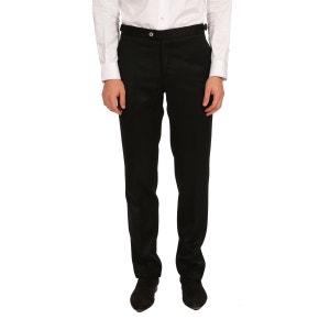 Pantalon homme tour de taille réglable en twill de laine Vitale Barberis Canonico BRUCE FIELD