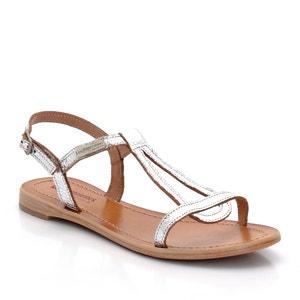 Hamat Flat Leather Sandals LES TROPEZIENNES PAR M.BELARBI