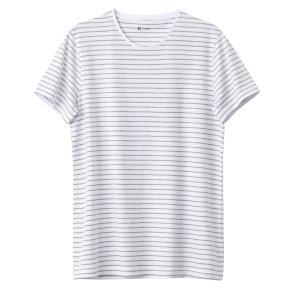 T-shirt col rond rayé 100% coton R Edition