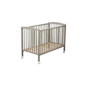 Lit de bébé Arthur 120 x 60 cm laqué gris clair COMBELLE COMBELLE