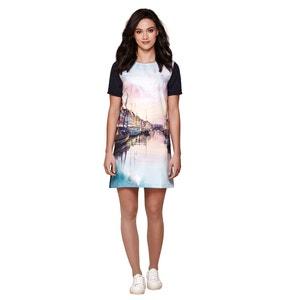 Landscape Print Shift Dress YUMI