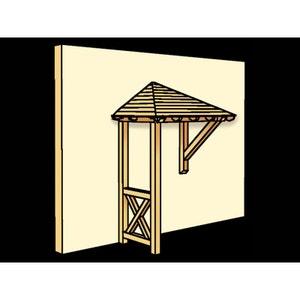 "Avant-toît ""Wesel"" - 1,82 x 1,18 m - Porte simple HABITAT ET JARDIN"