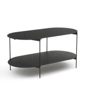 Mesa baja con doble superficie de acero OBLONE