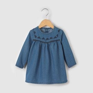 Платье из денима, 1 месяц - 3 года La Redoute Collections