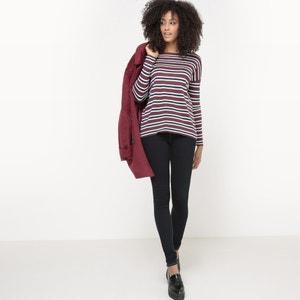 Pullover mit feinen Streifen, Lurex-Effekt R studio