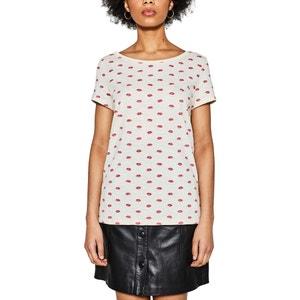 T-shirt con scollo rotondo, maniche corte ESPRIT