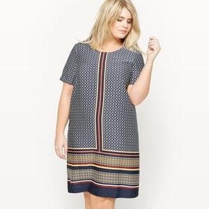 Bedrukte jurk met korte mouwen CASTALUNA