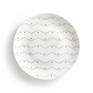 Lot 4 assiettes plates, AFROA La Redoute Interieurs