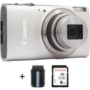Appareil photo compact CANON Ixus 285 HS silver + Etui + SD 8Go CANON