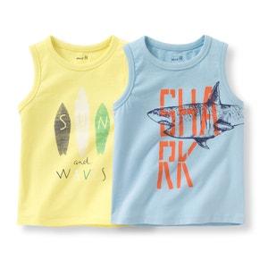 Camiseta sin mangas motivo marítimo (lote de 2) 3-12 años R édition