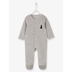 Pyjama bébé velours bio dos fantaisie VERTBAUDET