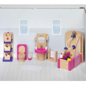 Maison de poupées : Mobilier salle de bain (complet) GOKI