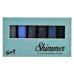 Coffret cadeau palette de maquillage compacte Fashion Bleu Glitter - 8pcs GLOSS