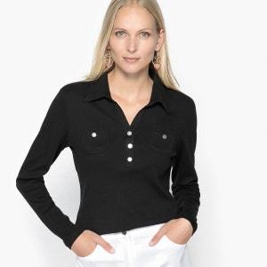 T-shirt col polo, pur coton peigné ANNE WEYBURN