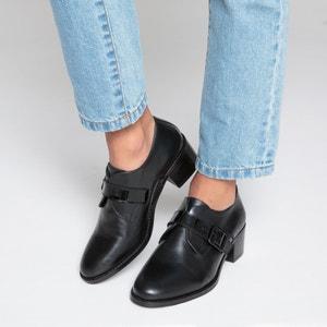 Ботинки-дерби кожаные с пряжкой La Redoute Collections